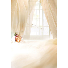 White Window Pink Curtain Indoor Vinyl Cloth Wedding Children Photography Backgrounds for Photo Studio Photo Backdrops CM-4032