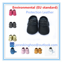 EU standard baby genuine leather shoes new design high quality baby moccasins Infant shoes(China)