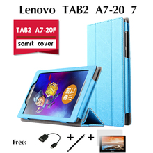 For Lenovo TAB2 A7-20F holster case 7 inches small seven new tablet computer protection shell support PU Leather Cover Case