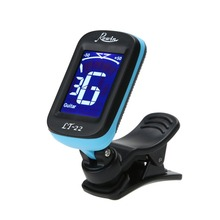 Electrical Clip-on LCD Display Guitar Tuner 360 Degree Reversible Clip Tuner for Guitar Chromatic Bass Violin UkuleleTune EA14