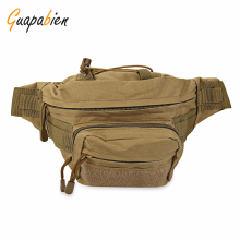 Guapabien Military Men Waist Bags Canvas Waterproof Waist Bag Men Fanny Waist Pack bag Camouflage Travel Bicycle Equipment Tools