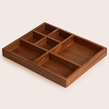 7 Lattice Food Flower Pot Wood Box Cosmetics Jewellery Organizer Sundries Tray Wooden Storage Boxes Wood Pallets Furniture(China)