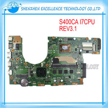 Original Laptop Motherboard For ASUS S400CA S500CA S400C S500C Mainboard REV3.1 I7 4GB USB 3.0 DDR3 Tested OK