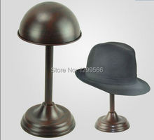 2pcs Fashion Bronze Metal Hat Stand cap display holder wig / hat Display Stand Rack free shipping