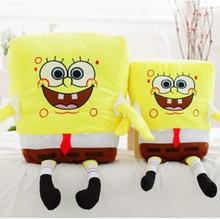 1pcs 40cm/50cm Sponge Bob Baby Toy Spongebob And Patrick Plush Toy Soft Anime Cosplay Doll For Kids Toys Cartoon Figure Cushion