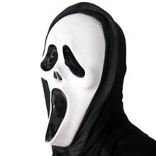 New Scary Ghost Face Scream Mask Creepy For Halloween Masquerade Party Fancy Dress Costume