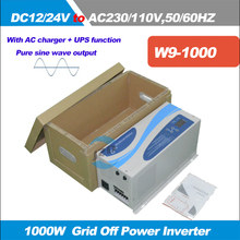 1000Watts(Peak Power 3000W)Pure Sine Wave Inverter,DC12/24V to AC110/220V,50/60HZ,Inverter with AC Charger and UPS
