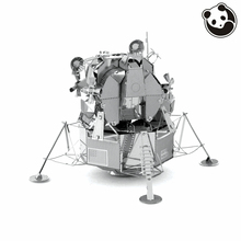 Panda model@Aviation 3D Metal Model Puzzles APOLLO LUNAR MODULE Chinese Metal Earth Stainless Steel Creative Gifts ICONX