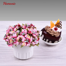 Bead flowers diy Artificial flowers cheap mini flowers lot plum blossom plastic head flowers headband for jewelry making(China)