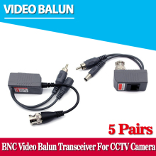Hot UTP CCTV BNC video Balun power Passive Balun Rj45,POE Power Video Audio 3 in 1 Transceivers CCTV spare parts free shipping