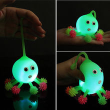 2pcs/set 2016 Led Luminous Light Up Ball Inflatable octopus Toys for Parent-child Kid Children Interaction Toy Random Color