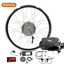 "26"" 500W Bafang Powerful Electric Bike Conversion Kit Bafang 8FUN Brushless Hub Motors Ebike convert Accessories sets LED LCD"