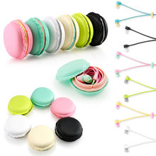 2016 New Macarons Design Earphone in-ear Headset for Xiaomi Samsung Iphone MP3 Player Cute Ecouteur Auriculares Headphones Sport