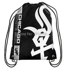 Chicago White Sox Drawstring Bags Men Sports Backpack Baseball Team Digital Printing Pouch Customize Bags 35*45cm Sports US
