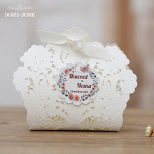 100 pcs Free Shipping Red/ White/ Gold/ Navy Blue Laser Cut Wedding Favor Boxes Candy Box Casamento Wedding Favors And Gifts(China)