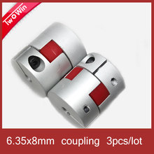 3pcs/lot 6.35x8mm Plum shaft coupling motor shaft coupler stepper motor coupler D20 L30(China)