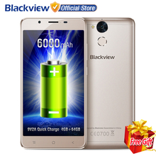 "Ships From Moscow! Blackview P2 5.5"" FHD MTK6750T Octa Core Android 6.0 4GB+64GB 13MP 6000mAh Battery Fingerprint 4G Smartphone"
