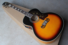 Free shipping Acoustic Electric Guitar SJ200 singlecut Vintage Sunburst with fisherman pickups in stock 14917