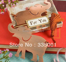 Wedding favor --Wedding celebration supplies The wedding gift gifts bookmarks elephant Metal Bookmark 20pcs/lot(China)