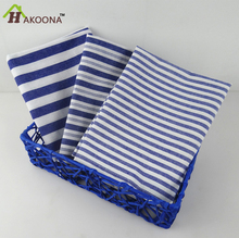 HAKOONA Mediterranean Blue Series  plaid  Stripes Tea Towel Table Napkins Home Essential Kitchen Towels 3 types