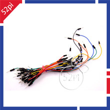 High Quality 65Pcs Mixed Color Male to Male Solderless Flexible Breadboard Jump Cable Wires Free shipping