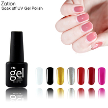 Buy Zation Colorful UV Gel Nail Tool Gel Polish Bling Varnish Colors Top Coat Nail Polish Beauty Enamel Nail Art Polish Lacquer Base for $1.39 in AliExpress store
