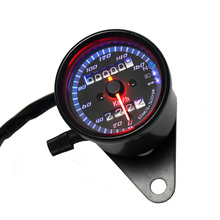 Universal Motorcycle Speedometer Odometer Gauge ATV Bike Scooter Backlit Dual Speed meter with LED Indicator DC 12V 0~160km/h