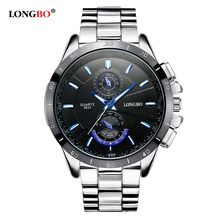 LONGBO Fashion Brand Sports Style Stainless Steel Luminous Waterproof Quartz Watch Luxury Wristwatches Mens Watches 8833
