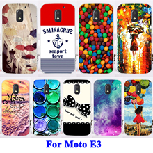 AKABEILA Cell Phone Cover Case For Motorola Moto E3 Case Durable Hard Shell Case Painted Painting H Series Protective Skin Shell(China)