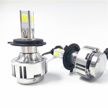 New Brights LED Headlight Bulb H4 - 72W 6600LM COB LED Lamp Replaces Halogen HID Hi Lo Dual-beam H4 LED Car Motorbike Headlight