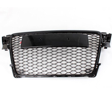 A4 B8 Black ABS Car Styling Exterior Parts Front Mesh Grill Grids No Camera Hole for Audi A4 B8 2009-2012