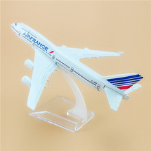 Metal Air France Airlines Boeing 747 B747 400 F-GITB Airways Plane Model Aircraft Airplane Model Stand 16cm For Baby Gifts(China)