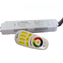 1X RGB(WW+CW) color CCT adjustable and dimmable 2 channel output led driver 220V input 60-84W with 2.4 RF remote controller