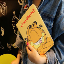 2017 New cartoon SpongeBob Garfield leather cover for Apple ipad mini 1 2 3 common Mario tablet case brand quality(China)