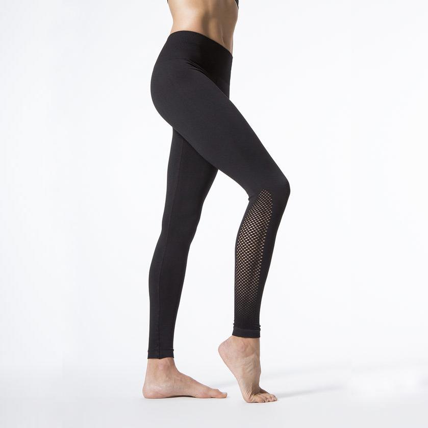 New Women Push-up Sporting Leggings Black Fashion Net Hollow Elastic Skinny Fitness Leggings Sporting Clothing For Women 2