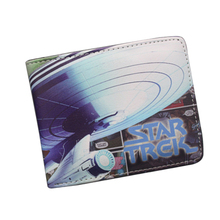 Starcraft Movies Fans Wallet For Men Bifold Vintage STAR TREK Wallet Short Leather Coin Money Bag Holder Purses Comics Wallet