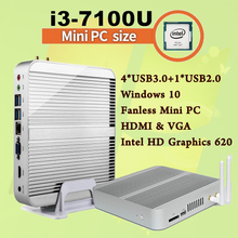 Mini PC [7e Gen Intel Core i3 7100U]4K HDMI&VGA 2017 Kaby Lac Best Windows 10 2.4 GHz HTPC Ordinateur Intel HD Graphics 620(China)