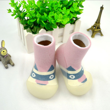 Buy Boy Girl Baby Socks Newborn Cute Floor Boots Socks Kids Winter Warm Rubber Sole Anti slip Inside Floor Socks for $9.00 in AliExpress store