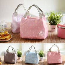 Portable Thermal Insulated Lunch Bag Lunchbox Storage Bag Lady Carry picinic Food Tote(China)