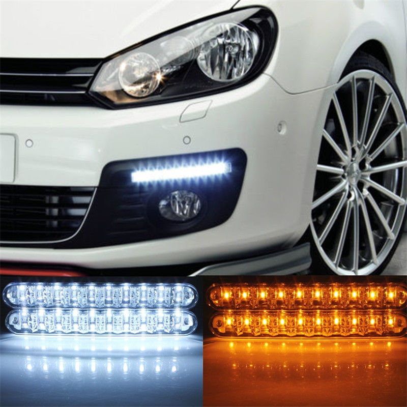 2Pcs/Pair Car-styling LED Daylight DC12V LED Auto Daylight Running Light DRL with Turn Lights 40W Lamp For Car SUV Truck Trailer<br><br>Aliexpress