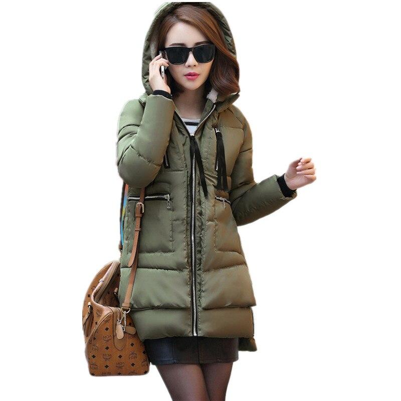 2017 Winter Jacket Women Military Coat Long Parkas Womens Clothing Cotton Wadded Jacket Hoodies Casual Maxi Jacket Coats C1405Îäåæäà è àêñåññóàðû<br><br>
