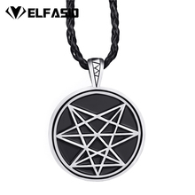 Mens Chaos Star Symbol Amulet Boys Pendant Necklace Wholesale Jewelry LP304