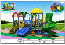 Cost-efficient Playground Equipment CE Approved Outdoor Playground Slide for Kids HZ-51026a