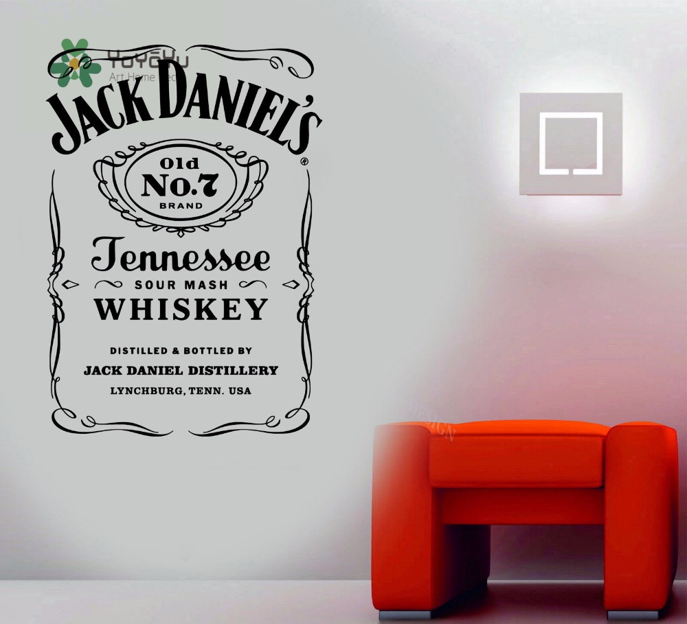 HTB1P1nBaK38SeJjSZFPq6A vFXa3 - YOYOYU Wall Decals Jack Daniels JD Wall Art Sticker
