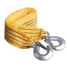 New 3T 3M Heavy Duty Road Towing Pull Rope Tow Cable Car Trailer Strap(China)