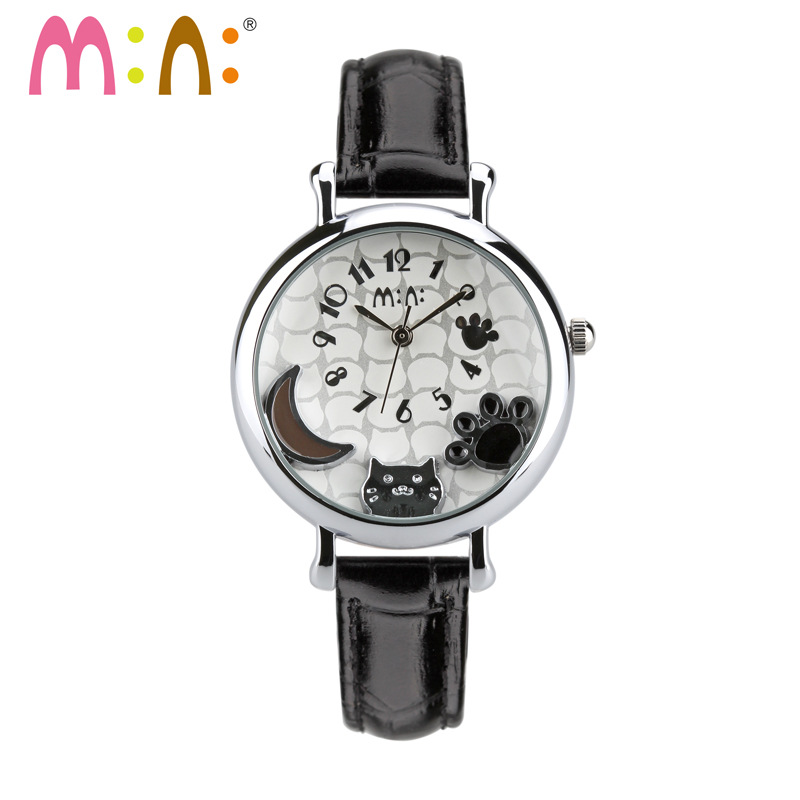 2017 Brand Mini 3D Cat Women Watches Waterproof Leather Quartz Wrist Watch Fashion Ladies Watches Clock Hours Relogio Feminino<br>