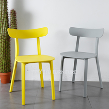 Minimalist Modern Design Plastic Dining Side Chair, fashion popular loft simple design cafe chair, living room leisure chair