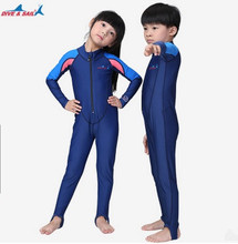 Neoprene Full Body Cloth Kids Wetsuit For Boy Rash Guard Girl Swim Scuba Diving Wet Suit Snorkeling Surf Wear Clothes Free Ship