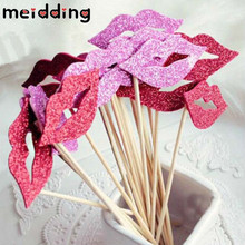 Buy MEIDDING 10pcs/pack Fashion Funny Lip Eva Photo Props Booth Wedding Photography Props Decoration Kids Birthday Party Supplies for $1.35 in AliExpress store