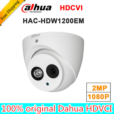 Wholesale english version dahua 2MP 1080P HDCVI HAC-HDW1200EM replace HAC-HDW1200E IR Eyeball Camera DH-HAC-HDW1200EM<br>